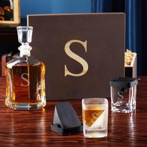 Argos Liquor Decanter Set with Whiskey Wedge Glasses - $139.95