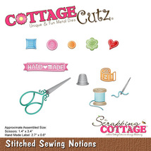 Stitched Sewing Notions Cottage Cutz Die. CLEARANCE