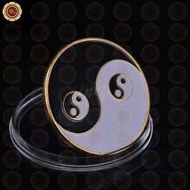 WR Yin Yang Golden Casino Poker Chip Coin Card Guard Protector Good Luck Item