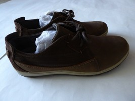 Merrell Air Cushioned Comfort Leather Brown Geometric Shoes Size 7.5 Wom... - $49.50