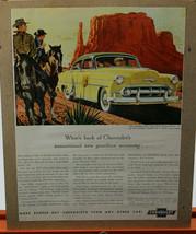 Chevrolet 1953 Yellow/Green Two-Ten 4-door Sedan Ad:New Gasoline Economy - $12.04
