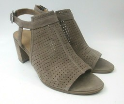 Franco Sarto Suede Open Toe Tan Bootie Sling Back Sandal WOMENS sz 10M - $34.24