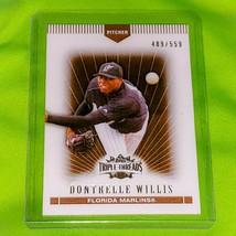 MLB DONTRELLE WILLIS FLORIDA MARLINS 2007 TOPPS TRIPLE THREADS /559 MINT - $0.68