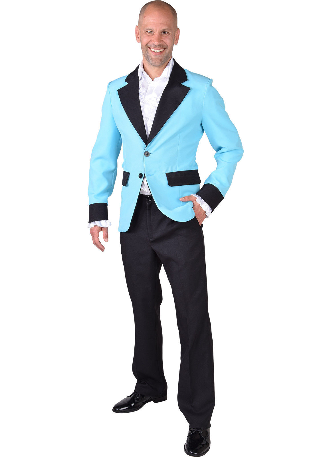 Show Jacket - Turquoise - Teddy Boy / Band  - XS-XXL