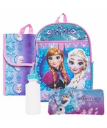 Disney Frozen 5 Piece Backpack with Lunch Bag Water Bottle Carabiner and... - £19.38 GBP