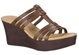 Women's Shoes UGG Australia MATTIE Platform Wedge Sandal Leather Chocolate - $71.99