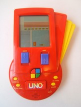 Uno Handheld Electronic Travel Card Game Mattel 1999 Tested Works - $15.36