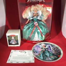Happy Holiday Barbie 1995 Set Includes Doll Enesco Plate Ornament McDona... - $101.92