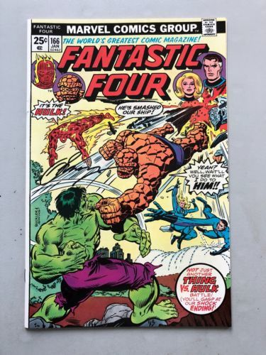 Fantastic Four (1961 1st Series) #166 Signed by Gerry Conway VF Very Fine