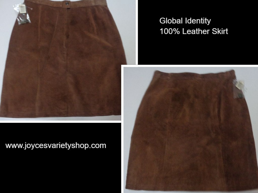 Leather skirt brown collage 2018 01 02
