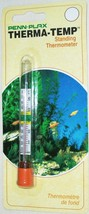 PENN PLAX THERMA-TEMP FLOATING STANDING UPRIGHT AQUARIUM THERMOMETER NEW - $0.93
