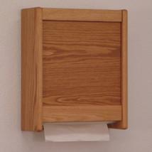 Oak Wood Wall Mount C-Fold Towel Dispenser Restroom Tissue Dispenser Box - $56.24