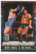 "2002 Fleer WWF All Access ""Kurt Angle & The Rock"" Matchmakers Card (Mint... - $4.94"