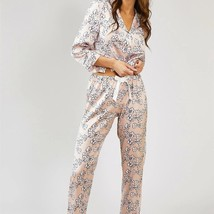 Pretty You London Womens Nightwear Trousers Floral in Blush Pink - XL - $52.00