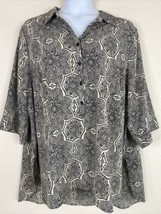Catherines Womens Plus Size 3X Mosaic Mandala Tunic Elbow Sleeve  - $23.76