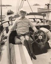 President Franklin D. Roosevelt sailing on a yacht 1933 FDR 8x10 Photo - $7.05