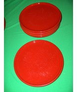 5 Vintage Salad Plates Waechtersbach Solid Colours Red Discontinued - $64.35