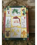 Christmas Santa Sign Tree Star Gingerbread man - $9.80