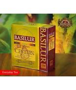 Basilur gold pure Ceylon black tea, 100 tea bags 200g (7.05oz) X 03 Packs - $42.47