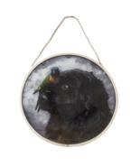 "Vintage Glassmasters: Rachel Hale's Henry & Pipi Suncatcher 8.5"" - $49.99"