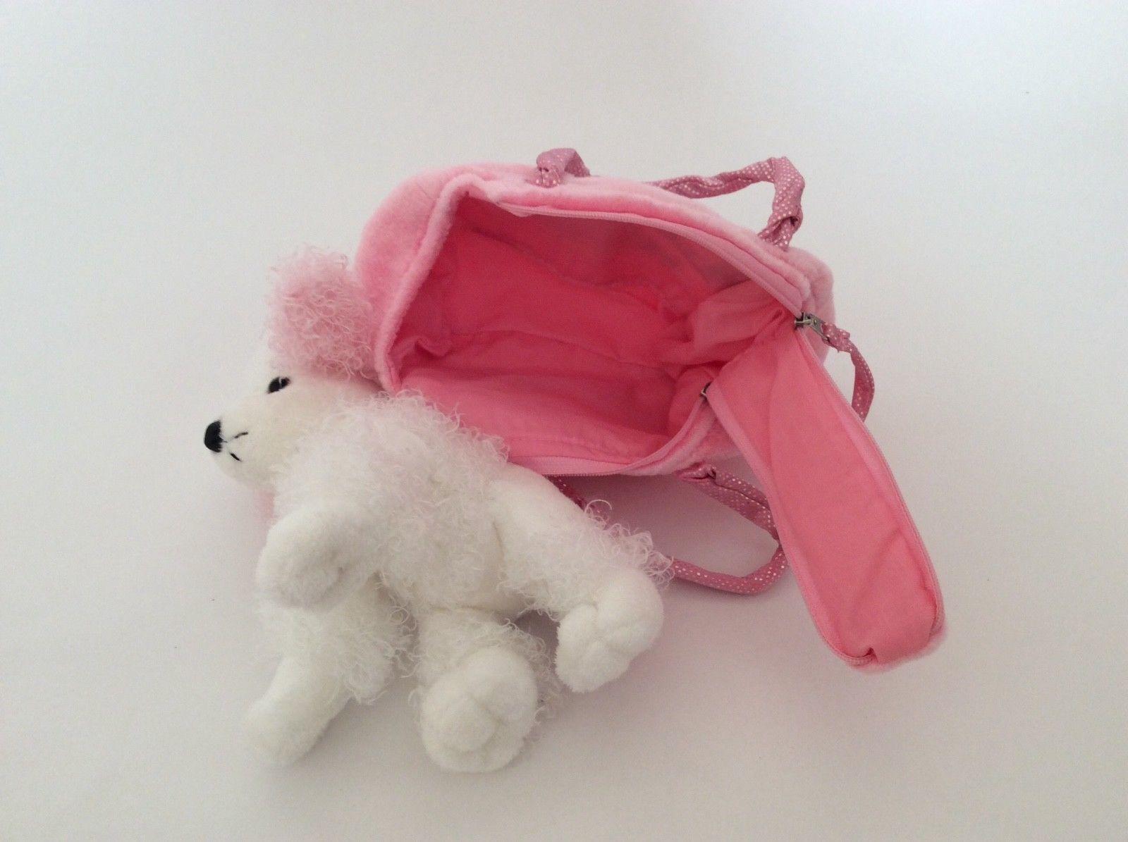 c907f9841a2 AURORA Fancy Pal pink Precious Princess PET CARRIER & POODLE PUPPY DOG plush