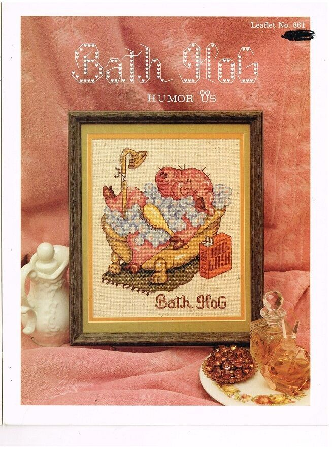 FOR BATHROOMS - CROSS STITCH LEAFLET/BOOK