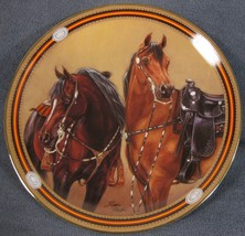 Trailblazers Collector Plate On The Range Susie Morton Danbury Mint Horses  - $17.95