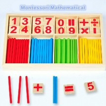 Baby Education Toys Wooden Counting Sticks Toy Montessori Mathematical B... - $6.38