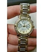 Anne Klein Women's 10-7899 Diamond Accented Multi-Function Two-Tone Watch - $102.96