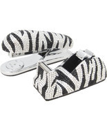 Zebra Crystal Stapler & Tape Dispenser Silver Metal Desk Accessory Set - £112.38 GBP