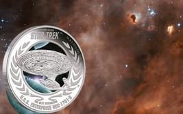 2015 Star Trek Next Generation Enterprise NCC-1701D 1oz .999 Silver Proof Coin