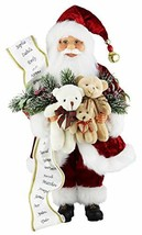 "Windy Hill Collection 16"" Inch Standing Teddy Bear Santa Claus Christmas... - $42.75"