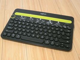 Logitech K480 Wireless Keyboard Universal Multi Device Bluetooth Desk Stand - $22.43