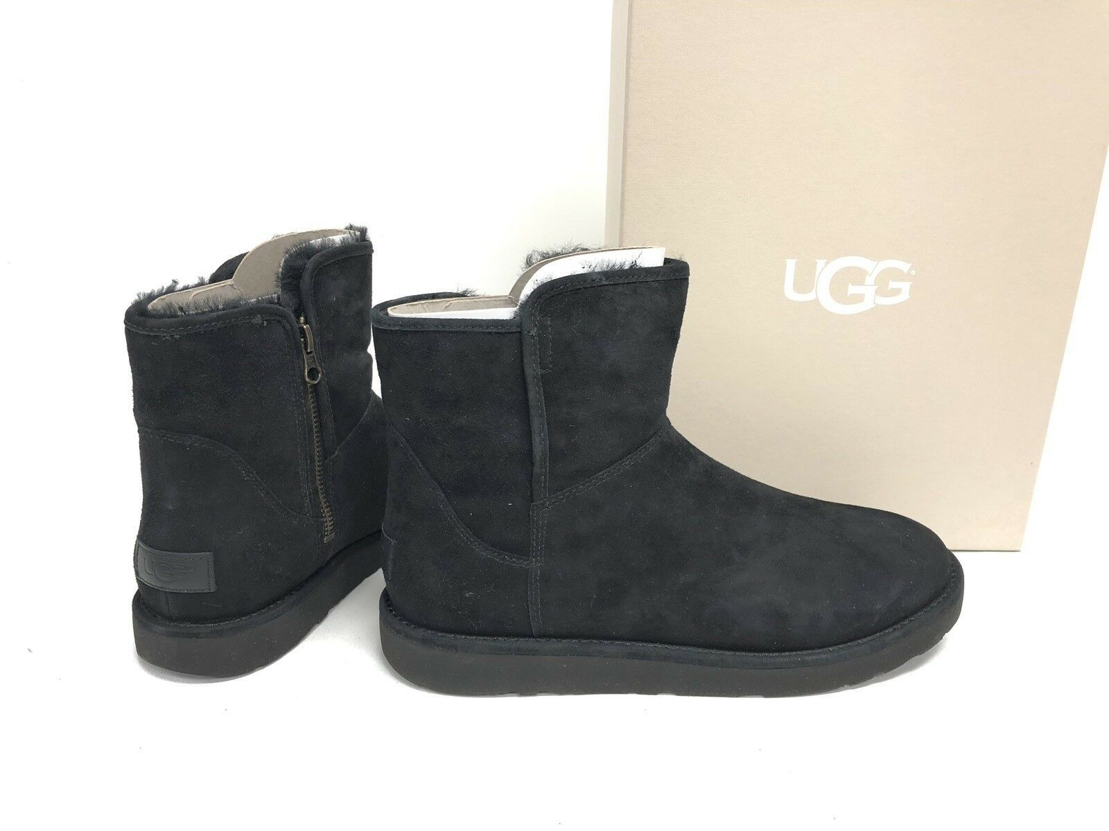 bfc41d4b452 Ugg Abree Ii Mini Black Suede Shearling and 50 similar items