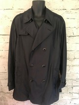 Armani Collezioni Ladies Black Shower Repellent Mid Length Coat Size 56 ... - $261.08
