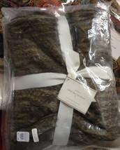 Pottery Barn Faux Fur Rabbit Throw Gray 50x60L Sofa Blanket - $129.00