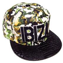 Ibiza Camo Snapback Cap Green Camouflage Trucker Hat White Black Militar... - $42.12