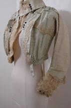 Antique Victorian Jacket Chiffon Silk Velvet Ruffle EDIE ADAMS Bolero XXS - $449.99