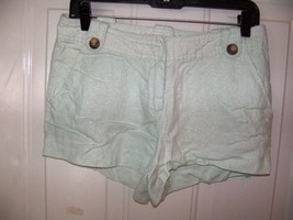 Love 21 by Forever 21 Mint Green Sparkle Shorts Size M Women's EUC - $17.01