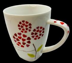 Starbucks 2007 I Love You Mug Heart Petal Flowers EUC Valentine 12 oz - $9.89