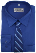 Boltini Italy Boys Kids Toddlers Long Sleeve Dress Shirt Set with Matching Tie image 6