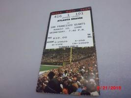 San Francisco Giants vs. Atlanta Braves 8-19-1998  Baseball Game Ticket ... - $2.97