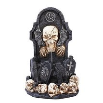 Pacific Trading Giftware Skull Tomb Backflow Incense Holder Burner Figurine Made - $29.15
