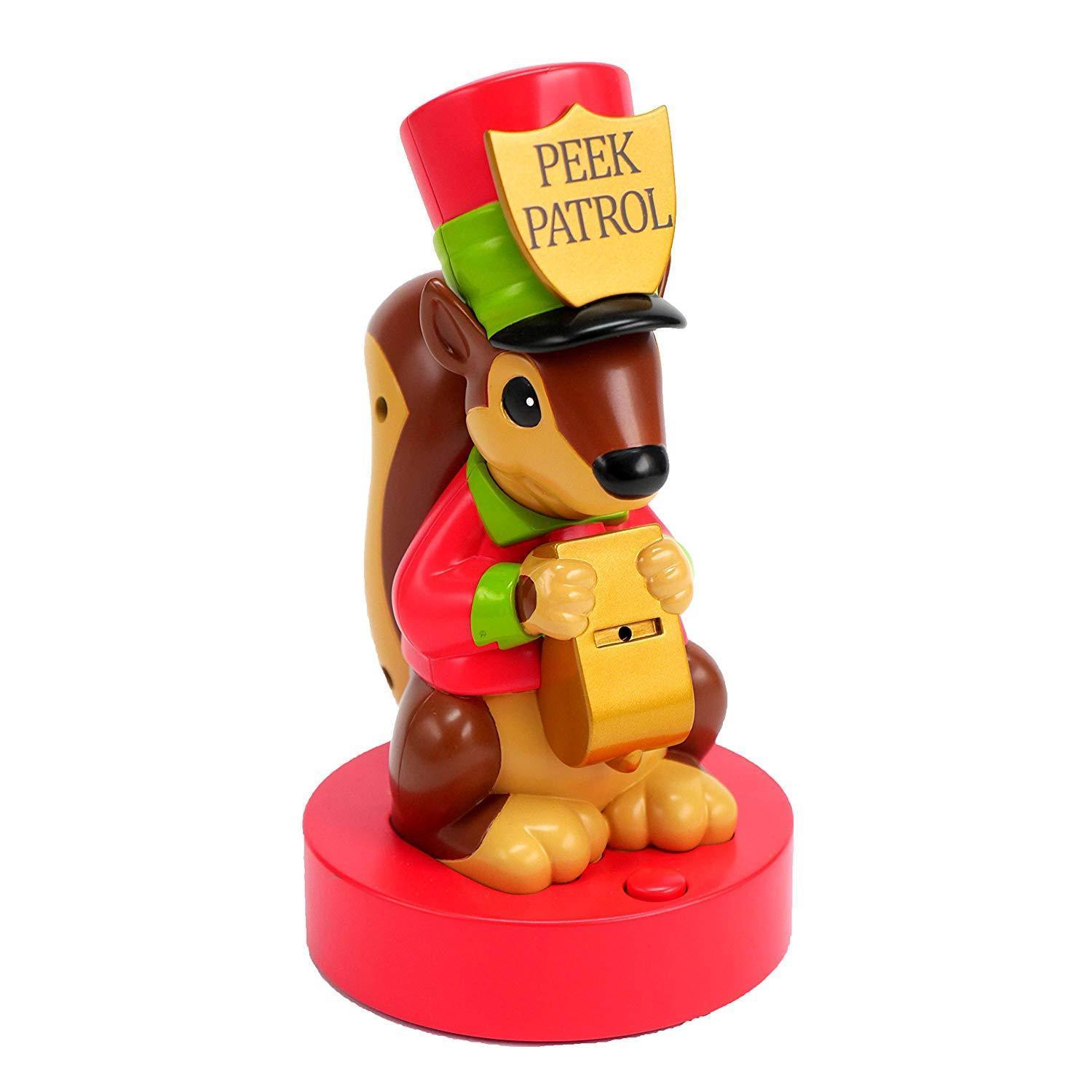 Hallmark Christmas Motion-Activated Squirrel Peek Buster, Guards Presents Under