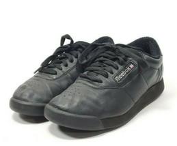 Reebok Classic Princess Sneakers Women's Sz 6.5 Black Leather (tu27ep) - $32.00