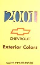 2001 Chevrolet Camaro Color Paint Chip Brochure - $8.99