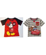 Disney Toddler Boys T-Shirts Mickey Mouse or Cars Sizes 3T, 4T or 5T NWT - $8.99