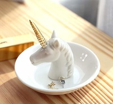 PUDDING CABIN Unicorn Jewelry Ring Holder Dish - Wedding Engagement Ring... - ₹1,314.90 INR