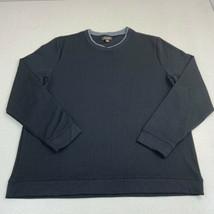 Tasso Elba T-Shirt Mens 2XL Black Long Sleeve Crew Neck Stretch Pullover... - $17.99