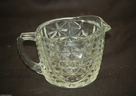 Stars & Bars by Anchor Hocking Creamer Clear Depression Glass Star Arch ... - $14.84